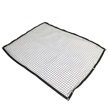 Custom Cheap Price Black Color Polypropylene Material Knotless Safety Net for Sale