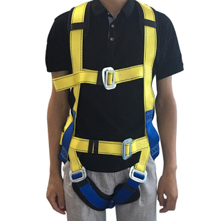 New Arrival Factory Price Industrial Fall Protection Full Body Safety Harness Belt with Safety Lanyard